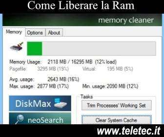 Come Liberare la Ram su Windows