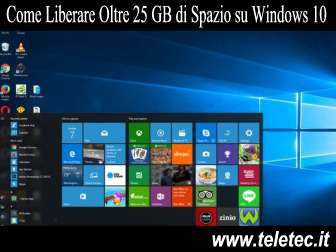 Come Liberare Oltre 25 GB di Spazio su Windows 10