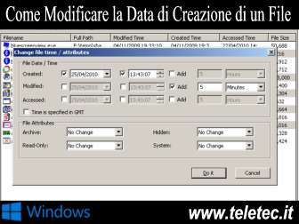 Come Modificare la Data di Creazione di un File su Windows