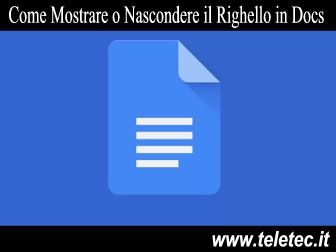Come Mostrare o Nascondere il Righello in Google Docs