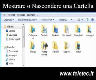 Come Mostrare o Nascondere un File o una Cartella su Windows