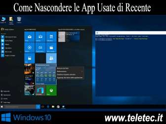 Come Nascondere le App Usate di Recente su Windows 10