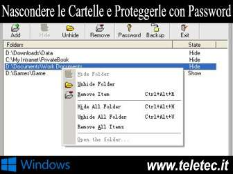 Come Nascondere le Cartelle su Windows e Proteggerle con Password