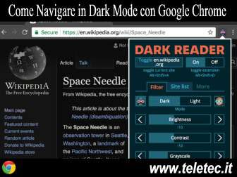 Come Navigare in Dark Mode con Google Chrome