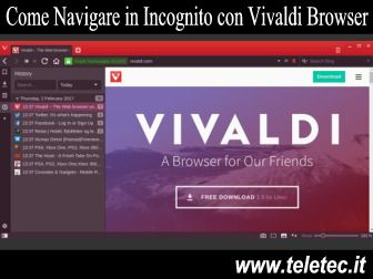 Come Navigare in Incognito con Vivaldi Browser