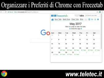 Come Organizzare i Preferiti di Google Chrome con Freezetab