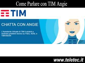 Come Parlare con TIM Angie - Assistente Digitale di TIM
