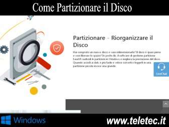 Come partizionare il disco su windows  easeus partition master professional