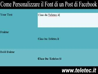 Come Personalizzare il Font di un Post di Facebook