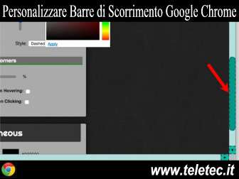 Come Personalizzare le Barre di Scorrimento di Google Chrome