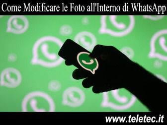 Come Personalizzare le Foto Scattate in WhatsApp