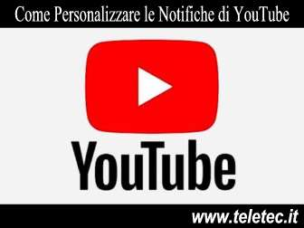 Come Personalizzare le Notifiche di YouTube