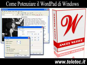 Come potenziare il wordpad di windows  angel writer