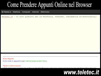 Come Prendere Appunti e Note con il Browser - Teletec Note