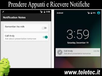 Come Prendere Appunti e Ricevere Notifiche su Android - Notification Notes