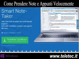 Come Prendere Note e Appunti Velocemente su Windows - CintaNotes