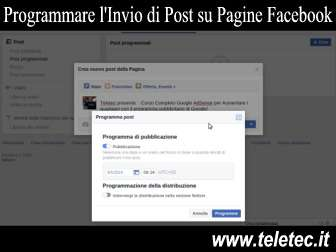 Come programmare linvio di post su pagine facebook