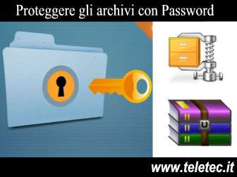 Come Proteggere un Archivio RAR o ZIP con Password