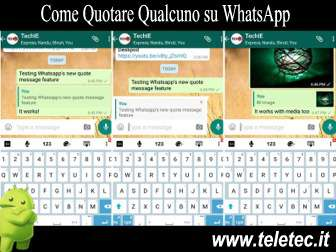 Come Quotare Qualcuno su WhatsApp con Android