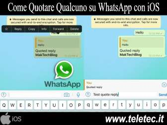Come Quotare Qualcuno su WhatsApp con iOS
