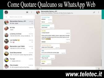 Come Quotare Qualcuno su WhatsApp con WhatsApp Web