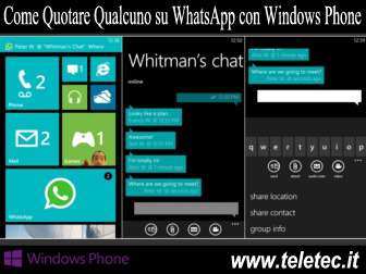 Come Quotare Qualcuno su WhatsApp con Windows Phone