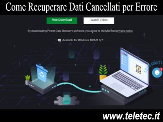 Come Recuperare Dati Cancellati per Errore con Windows 10 [Risolto con MiniTool Data Recovery]