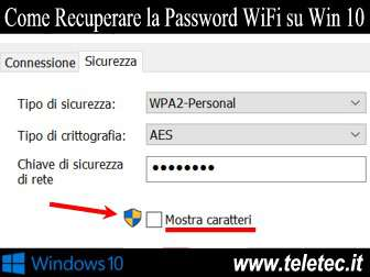 Come Recuperare la Password del Wi-Fi su Windows 10