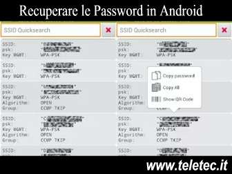 Come recuperare le password del wifi memorizzate nei dispositivi android