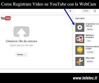Come registrare video su youtube con la webcam