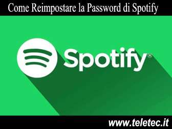 Come Reimpostare la Password di Spotify