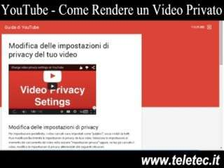 Come Rendere Privato un Video su YouTube