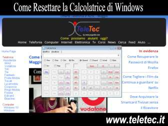 Come Resettare la Calcolatrice di Windows