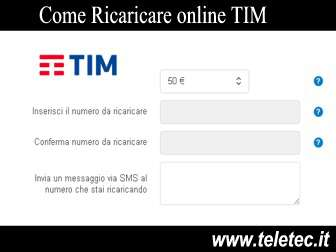 Come Ricaricare Online Tim