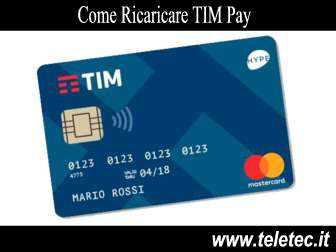 Come Ricaricare TIM Pay