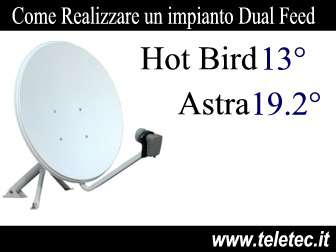 Come Ricevere 2 Satelliti con una sola Antenna