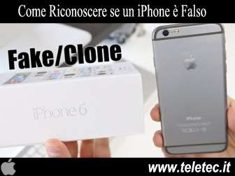 Come Riconoscere se un iPhone è Falso
