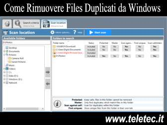 Come Rimuovere Files Duplicati da Windows
