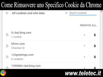 Come Rimuovere un Cookie Specifico da Chrome