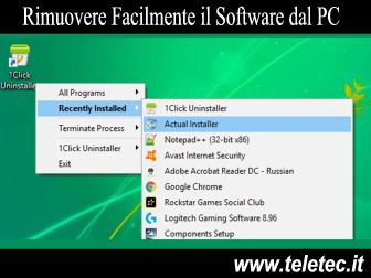 Come Rimuovere Velocemente il Software dal PC - 1Click Uninstaller