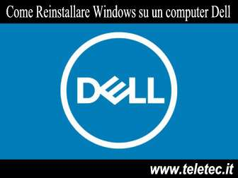 Come Ripristinare o Reinstallare Microsoft Windows su un computer Dell