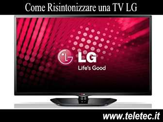 Come Risintonizzare una TV LG per il Digitale Terrestre
