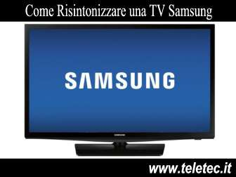 Come Risintonizzare una TV Samsung per il Digitale Terrestre