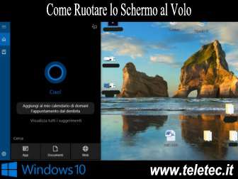 Come Ruotare lo Schermo al Volo su Windows 10