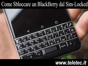 Come Sbloccare un BlackBerry dal Sim-Locked