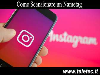 Come scansionare un nametag di instagram