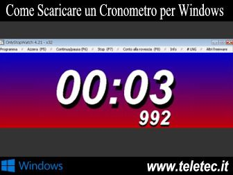 Come Scaricare un Cronometro per Windows
