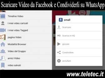 Come Scaricare Video da Facebook e Condividerli su WhatsApp