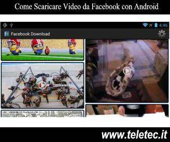Come Scaricare Video e Foto da Facebook con Android