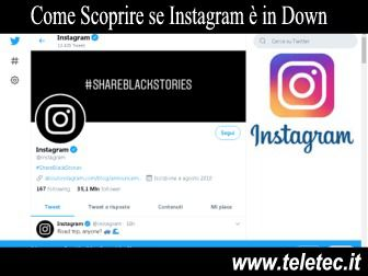 Come Scoprire se Instagram è in Down - Per iOS e Android